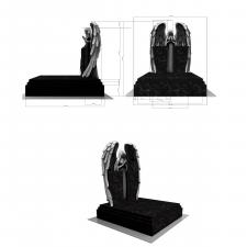моделирование скульптуры и элементов памятника, 3д