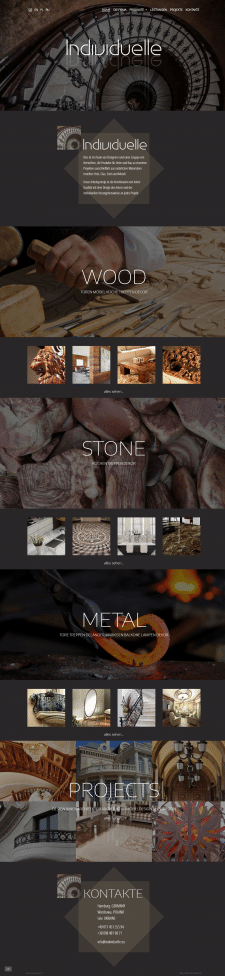 Сайт визитка по изготовлению мебели и т.д.