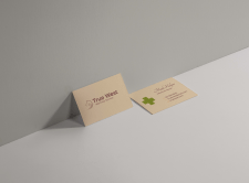 Business card for veterinary services