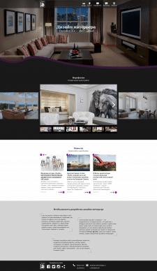 Сайт-Визитка для Студии Дизайна Интерьеров