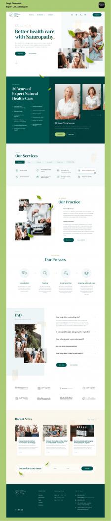 Головна сторінка для сайту клініки Naturopathy