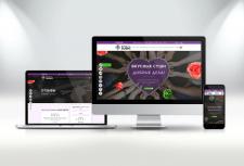 Дизайн сайта доставки суши
