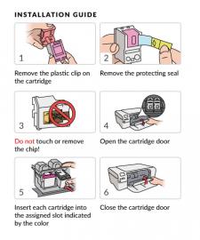 Инструкция для чернильных картриджей