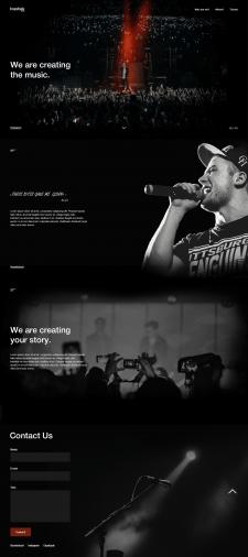 Сайт для студии записи