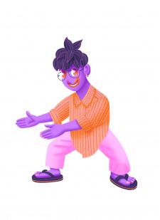 Фиолетовая девушка