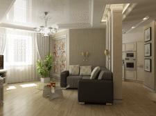 Дизайн интерьера 3-ком. квартиры