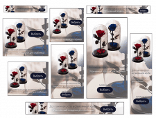 Баннеры для Google - роза в колбе