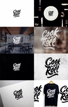 Разработка логотипа для кафе COOK&ROLL