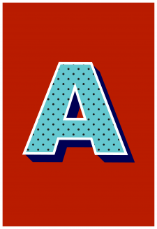 The  Letter A Art Print - Typographic Print