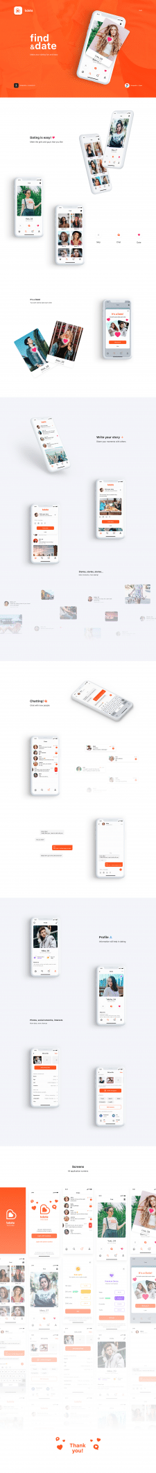 Дизайн приложения для Bdate