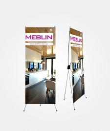 Дизайн мобильного стенда Х-баннер