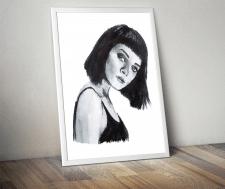 акварельный портрет девушки