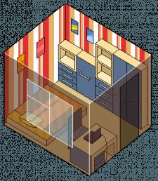 Пиксель-арт — комната