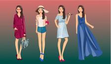 Серия персонажей для сайта туристического агентств