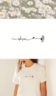 Лого принт для футболки