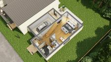 3D планировка 1 этаж