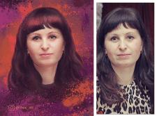 """Портрет в стиле """"дрим-арт"""", обработка фото+прорис."""
