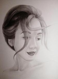 портрет (а4, карандаши)