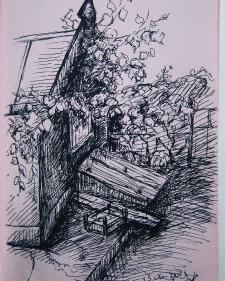Во дворе