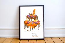 Постер ко дню Рождения дизайн-студии