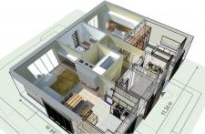 Макет проекта, частный дом.