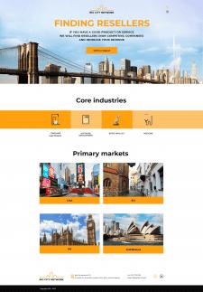 Дизайн  страницы сайта Big City Network + лого