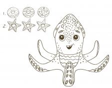 Эскиз осьминожки
