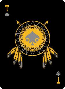 Spielkarten Indians- Skelette15
