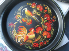 Петриковская роспись на подносе