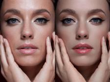 Выравнивание тона кожи, ретушь, цветокоррекция