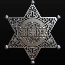 Sheriff's Star. Silver. Модель для станка с ЧПУ.