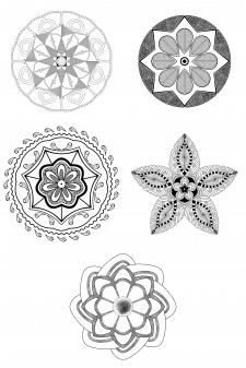 Черно-белые мандалы