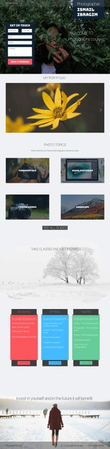 Сайт по курсам для начинающих фотографов