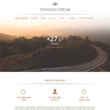"""Сайт туристической компании """"Thailand Dream"""""""