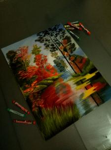 Осень, пастель