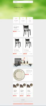 Дизайн рекламной рассылки+верстка. Интернет-магази