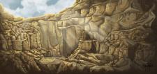 Концепт-арт локации для компьютерной игры