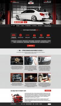 Дизайн и верстка адаптивного сайта автосервиса