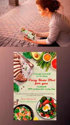 ebook cover design_Easy Keto Diet For You