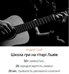 Контекстна реклама для музичної школи