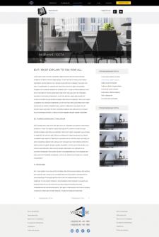 Многостраничный корпоративный сайт. Статьи блога.