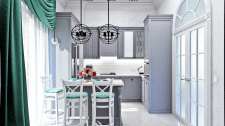 Кухня в доме - любимое место хозяйки