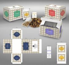 вариант линейки упаковок для элитного чая