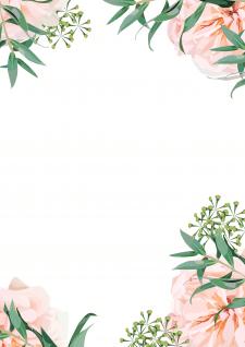 Романтичный фон с цветами.