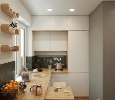 Дизайн интерьра кухни / 3д визуализация
