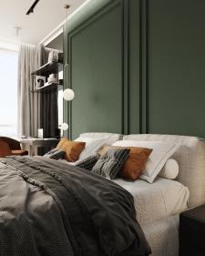 Дизайн спальни в жк Заречный