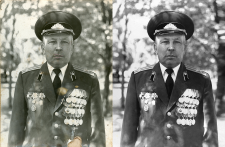 Восстановление старых фотографий, ретушь