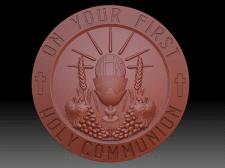 Моделирование сувенирной медали для литья из олова
