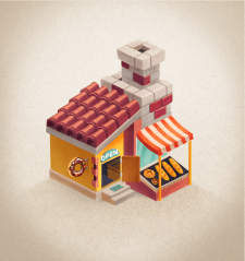 Bakery house for mobile farm game