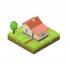 Ізометричний будиночок для гри